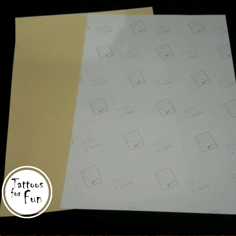 picture regarding Printable Temporary Tattoo Paper called 1 Mounted of Do it yourself Tattoo Paper