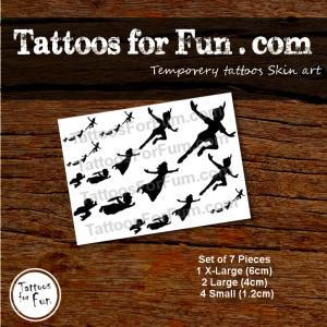 tattoos-for-fun-com-peter-pan-set of 7-tattoos