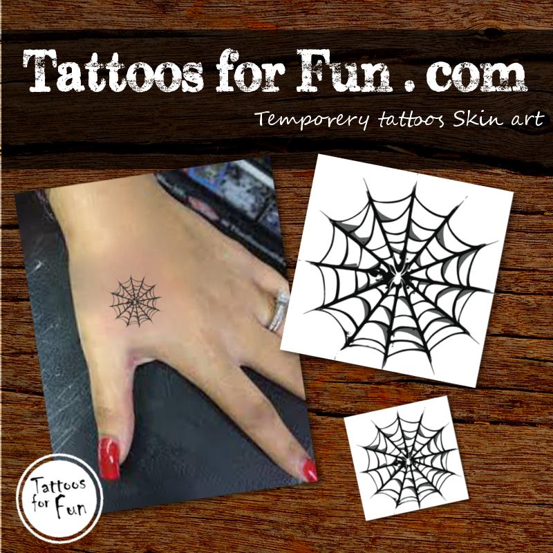 Halloween spider temporary tattoo tattoos for fun for Halloween temporary tattoos