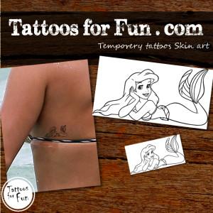 Little Mermaid Temporary Tattoo