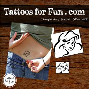 tattoos-for-fun-Beautiful-little-mermaid-temporary-tattoos