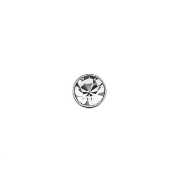 925 Sterling Silver Nose Studs 22g (0.6mm) With A 1.5mm Cubic Zirconia Stone-4