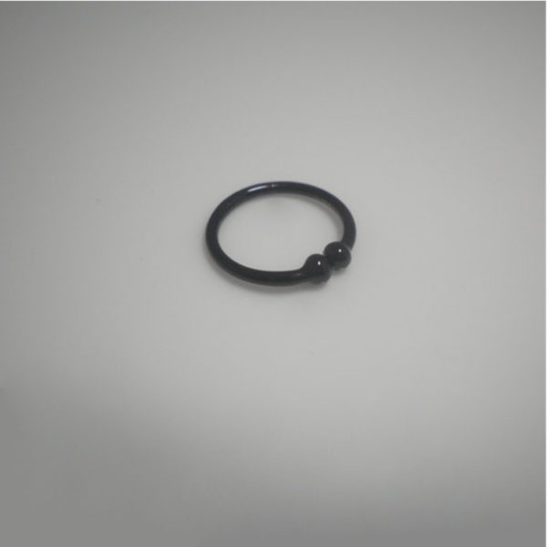 Black Plated Over 925 Sterling silver Fake Nose-1
