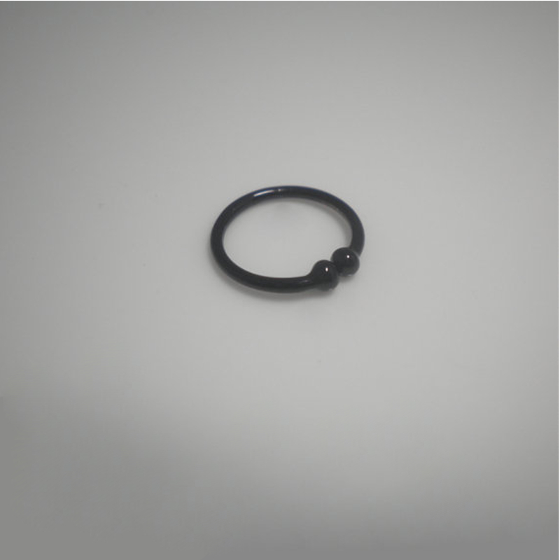 black plated 925 sterling silver nose lip ring