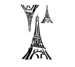 Cute Eiffel Tower Temporary Tattoo