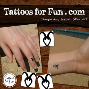 tattoos-for-fun-capricorn-fake-tattoos
