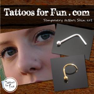 tattoos-for-fun-nose-piercing
