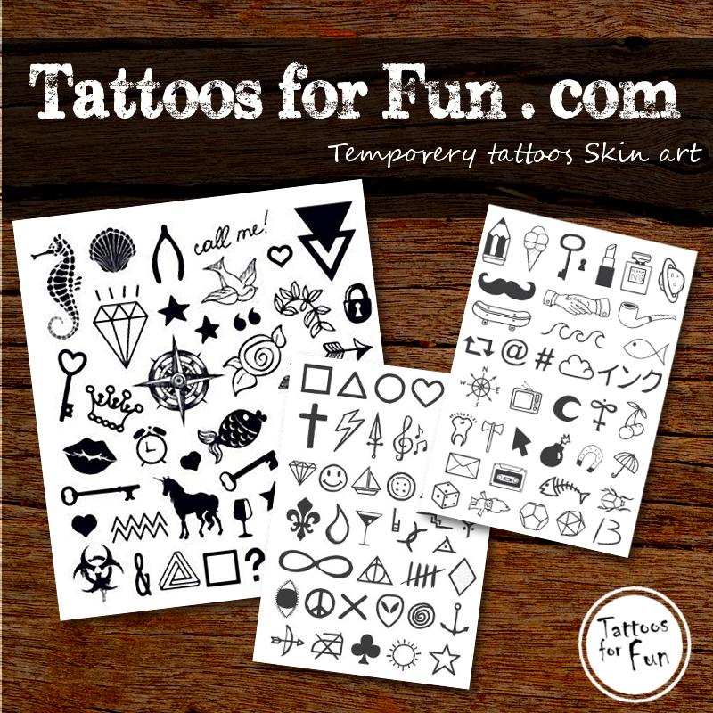 Fingers Black White Temporary Tattoo Tattoos For Fun