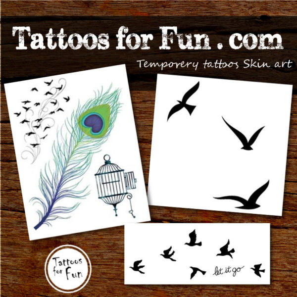 Birds Fake Tattoos