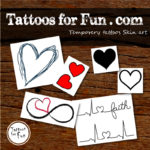 Hearts Fake Tattoos
