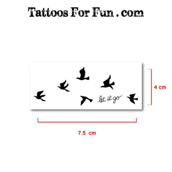 Stick on birds tattoos