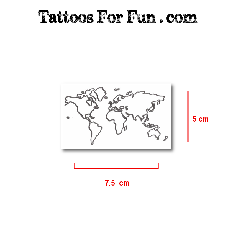 Pack of travel temporary tattoos tattoos for fun map fake tattoos gumiabroncs Gallery