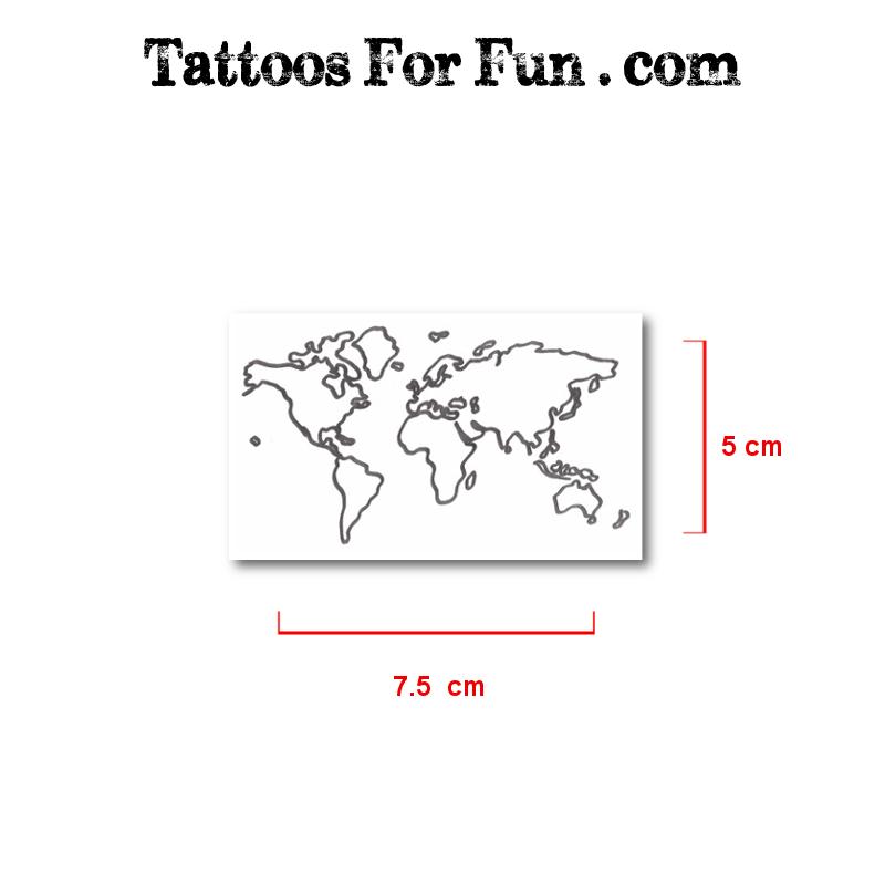 World map tattoos tattoos for fun map fake tattoos gumiabroncs Gallery