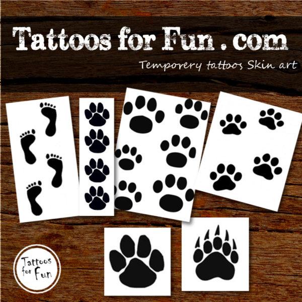 Paw stick on tattoos