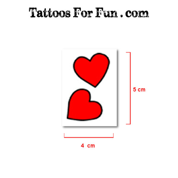 Hearts Fake Tattoos