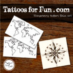Travel Fake Tattoos