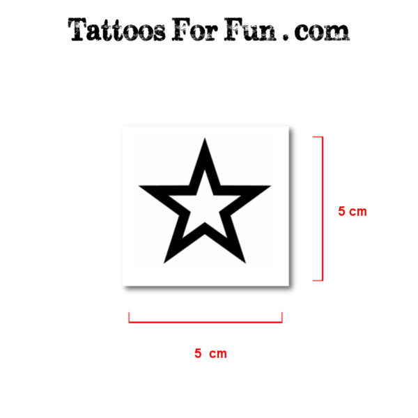 Stars Fake Tattoos