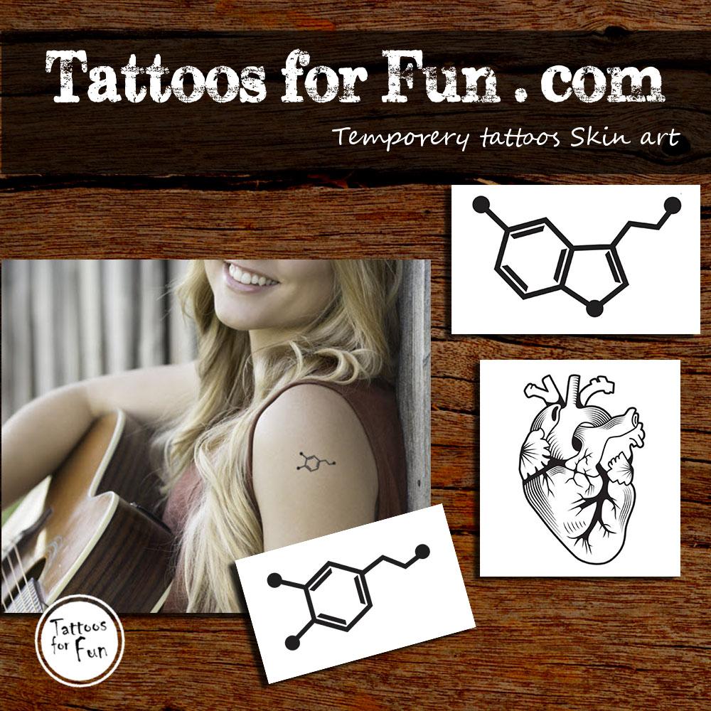 Anatomic Pack Tattoo Set - Tattoos For Fun