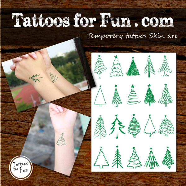 christmass tree cool tattoos