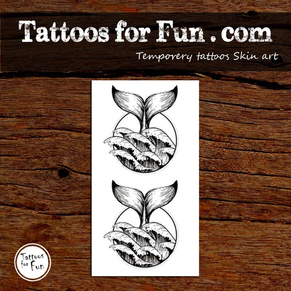 Dolphin Henna Tattoo: Dolphin Tail Temporary Tattoo