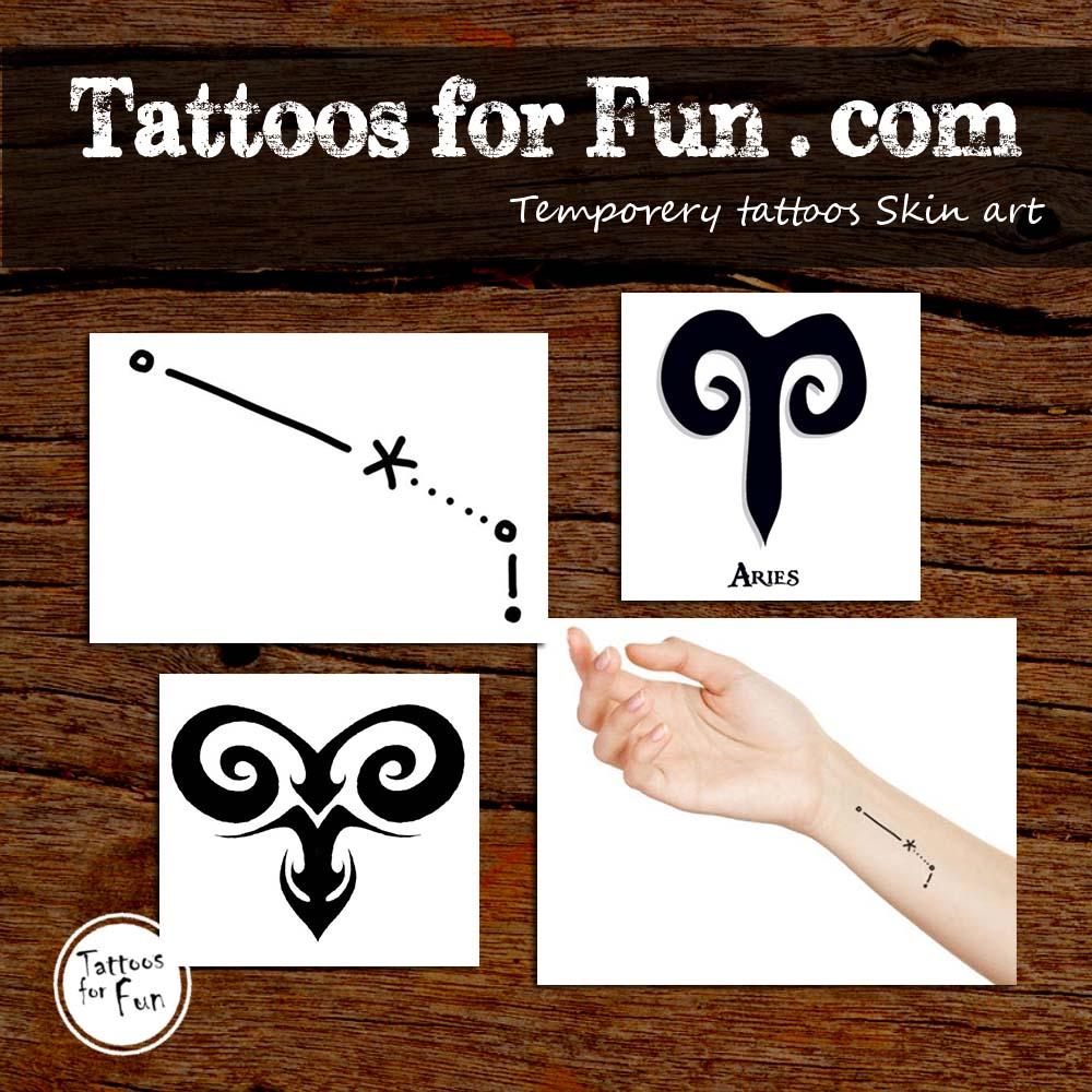 8b71e34ab0e77 HomeBody TattoosFashionable TattoosAries Zodiac Tattoos Set. Sale. Previous