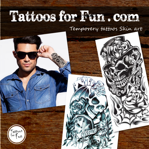 sleeve-tattoos-skull-tattoos